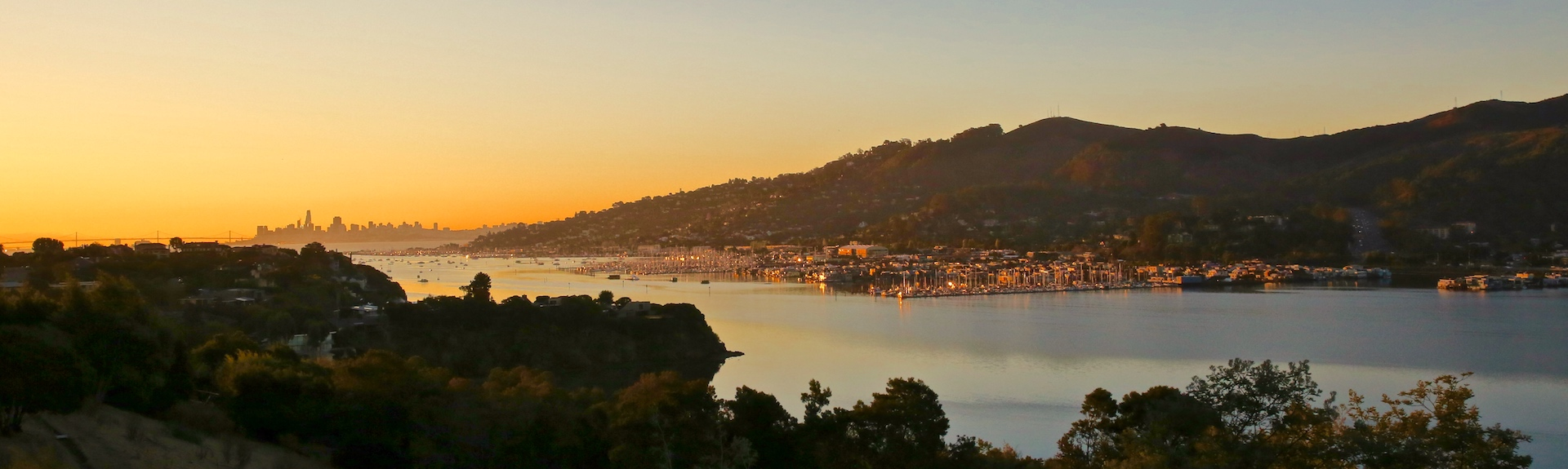 Sausalito at Dawn from Strawberry