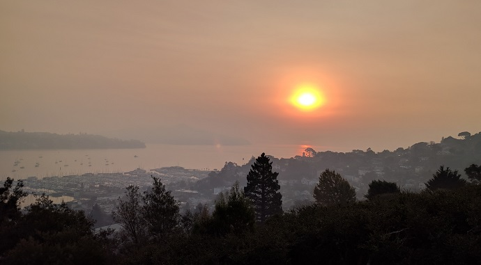 Hazy Sunrise in Sausalito