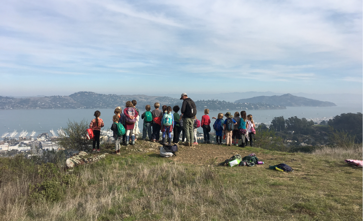 Students from New Village School enjoying the views of Sausalito
