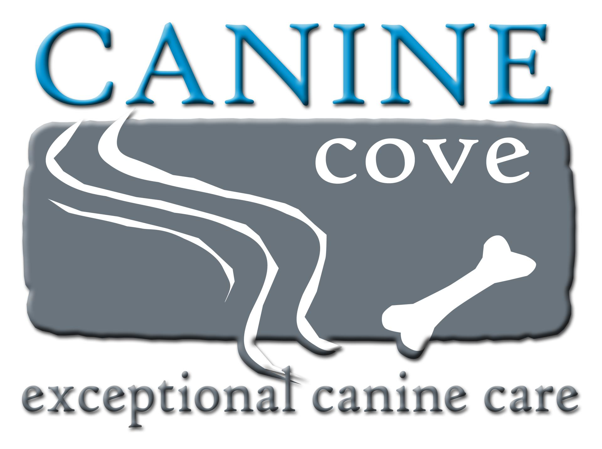 canine cove logo white background